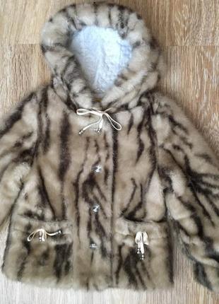 Красивая полушубка, шубка-курточка на девочку 7 лет, 122 размер