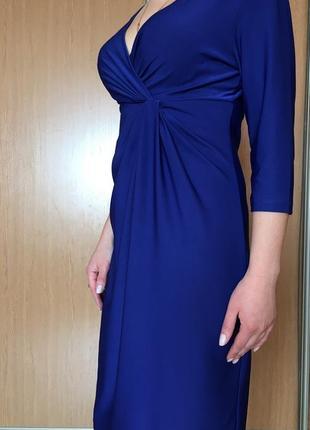 Нарядное платье, насыщенного модного синего цвета, m-l размер