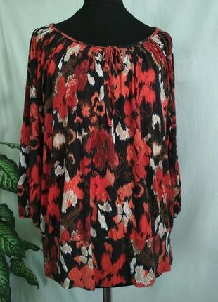 Блуза с цветочным принтом marks & spenser.