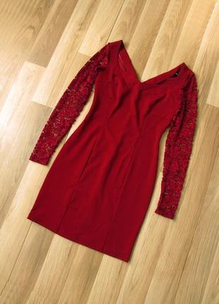 Платье с кружевными рукавами flirt