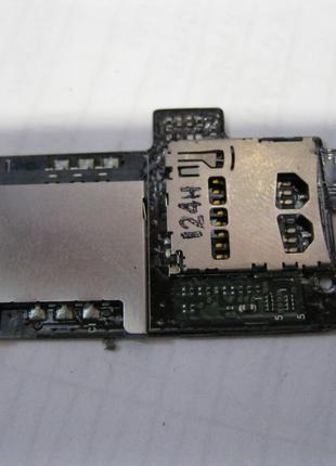 Шлейф сим карты и памяти HTC Sensation XE Z715e