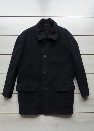 Шикарное шерстяное пальто прямого кроя