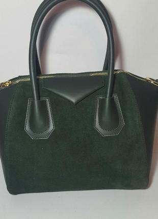 Элегантная, деловая женская сумка в стиле givenchy. кожа комби...