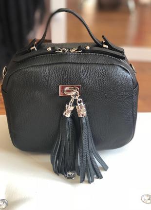Кожаная сумочка-чемоданчик