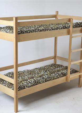 Кровать детская двухъярусная (600 * 1400) массив