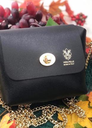 Женская кожаная сумочка vera pelle италия
