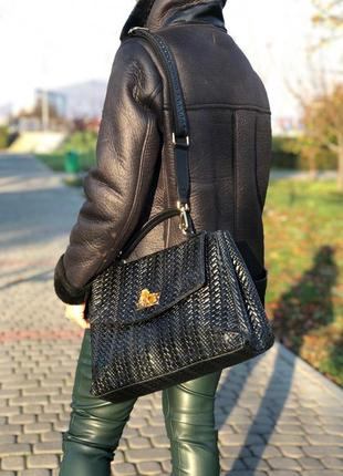 Большие, вместительные кожаные сумки в форме портфеля