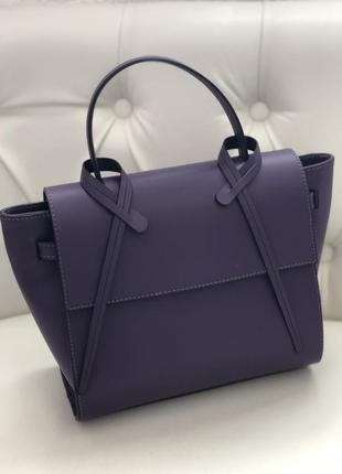 Элегантная кожаная сумка  genuine leather италия