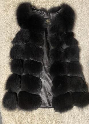 Натуральная меховая писцовая жилетка