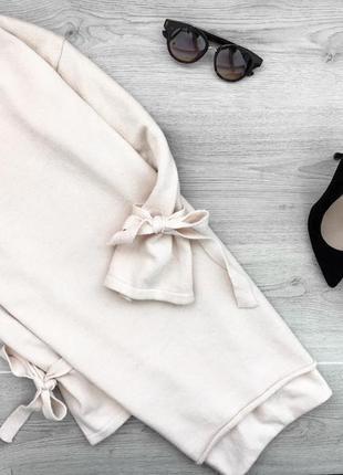 Красивый длинный свитер/джемпер/платье прямого покроя пудровог...