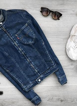 Крутая джинсовая куртка на замке levis