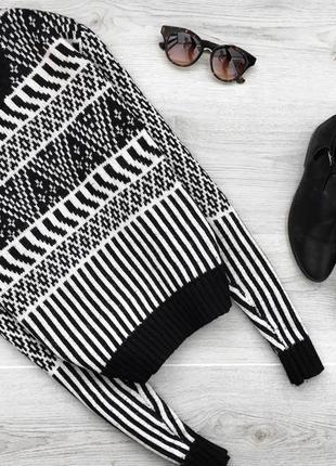 Актуальный свитер/джемпер  в орнаментный принт topshop