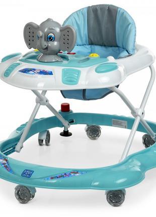 Детские ходунки каталка с силиконовыми поворотными колесами дл...