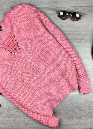 Крутой свитер/джемпер с шнуровкой 4xl pep&co