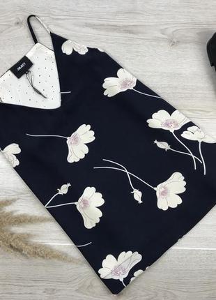 Шикарная майка/блуза в принт цветы object