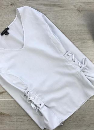 Крутая блуза/блузка с шнуровкой по боках 2xl atmosphere