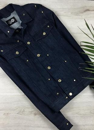 Актуальная удлиненная джинсовая куртка с набойками cheap monday