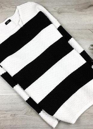 Красивый фактурный джемпер/кофта/свитер в полоску 4xl f&f