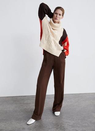 Вязаный свитер с горловиной от zara