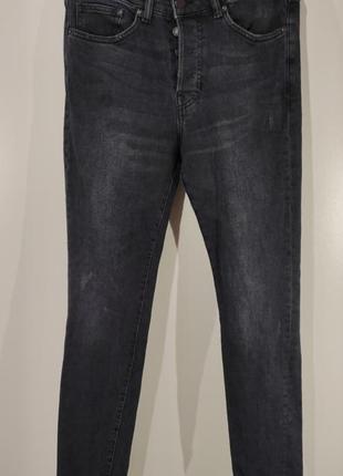 Мужские зауженные джинсы на пуговицах denim размер 30