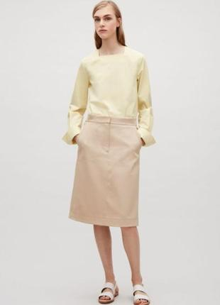Cos хлопковая блуза блузка