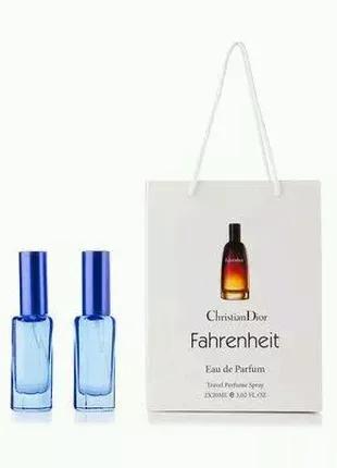 Мужской парфюм в подарочной упаковке Fahrenheit ( 2 по 20 мл )