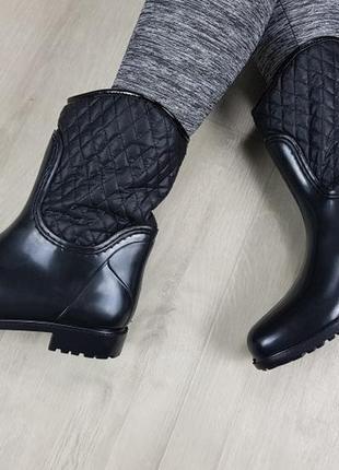 Ботинки полусапожки резиновые непромокаемые утепленные флисом