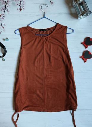 Блуза/футболка/топ від new look під замш з зав'язками по боках