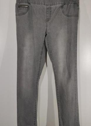 Женские серые зауженные джинсы esmara размер 46