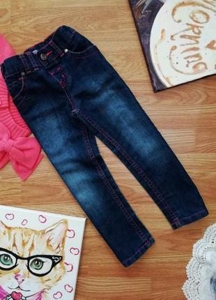 Детские мягкие комфортные джинсы - брюки f&f - девочка - 4-5 лет