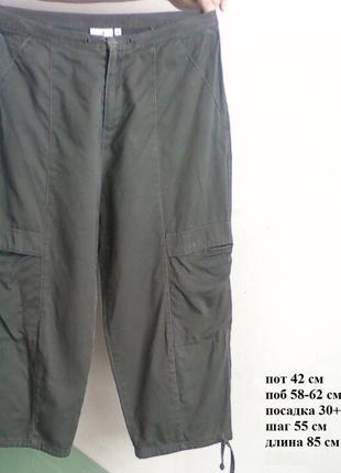 Капри брижди коттон с карманами шорты оливковые хакки в стиле ...