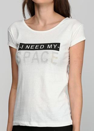 ▣ футболка хлопковая с надписью i need my space (цвет: желтова...