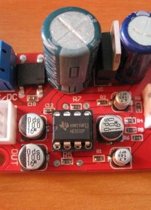 Предварительный усилитель слабого сигнала наушникиов гитар 9-16В
