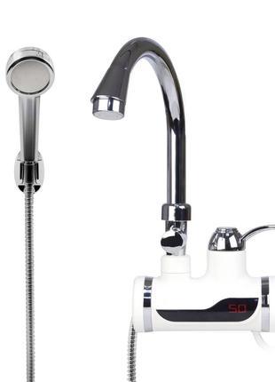 Проточный водонагреватель Delimano c LCD экраном и душем Кран ...
