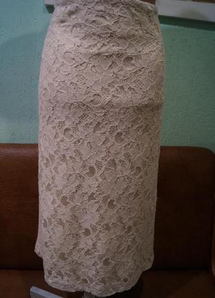Кружевная юбка р.14,бренд f&f