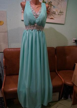 Вечернее длинное платье р.м