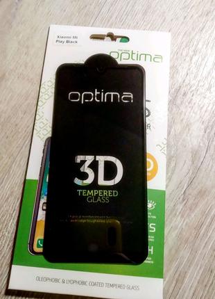 Защитное стекло optima 3d Xiaomi Mi Play