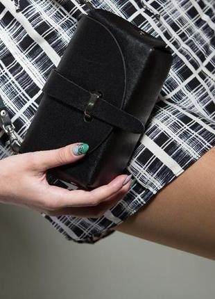 Сумка кожаная женская bag-3 черная