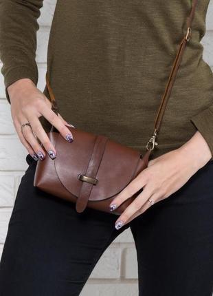 Сумка кожаная женская bag-3 коричневая