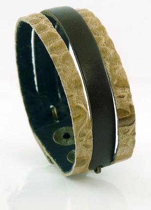 Кожаный браслет p625