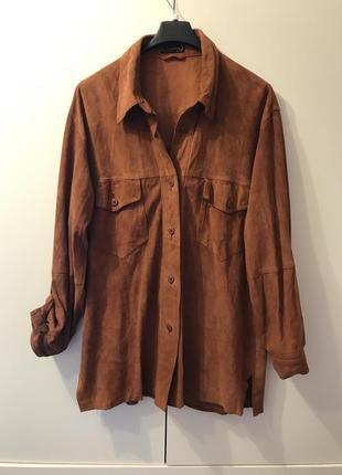 Рубашка натуральный замш pielini