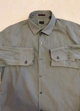Рубашка paul smith 15/39 в зелёную полоску