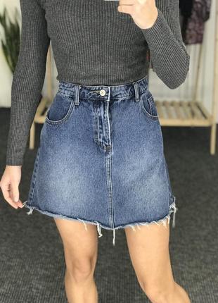 Джинсовая юбка большого размера denim co