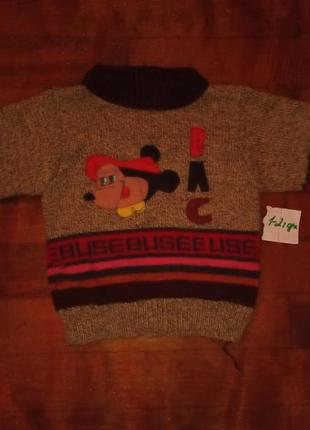 Свитер, свитерок на мальчик 1-2 года