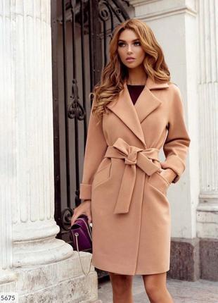 Кашемировое пальто женское осеннее деловое классическое на под...
