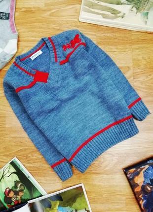 Детский легкий вязаный джемпер - пуловер - свитер penguin для ...