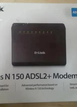 Adsl2+ wi-fi модем-роутер D-link dsl-2640u для Укртелекома