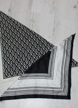 Черно белый платок, стильная вещь которая всегда разбавит ваш ...