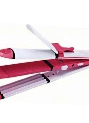 Прибор для укладки волос 3в1 Kemei КМ-1291 плойка гофре утюжок