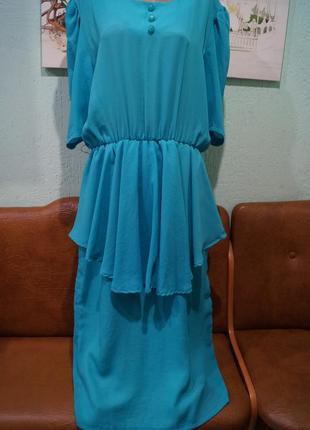 Платье с баской р.хххл